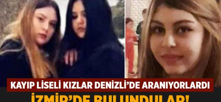 Denizli'de aranan kayıp kızlar İzmir'de bulundu!