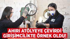 İzmir Aliağa'da Aysel Arslan ahırı atölye yaptı girişimcilikte örnek oldu!