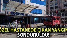 İzmir Konak'ta Egepol Hastanesi'nde çıkan yangın söndürüldü!