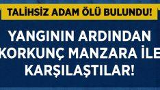 Manisa Alaşehir'de yalnız yaşayan Suat Çetin dumandan zehirlenerek hayatını kaybetti!