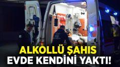 Manisa Demirci'de alkollü şahıs Mehmet Simavlı kendini yaktı!