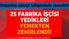 Uşak'ta 25 fabrika işçisi yemekten zehirlendi!