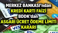 Merkez Bankası, kredi kartı faizleri düşürdü
