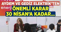 Aydem ve Gediz Elektrik'ten kritik karar