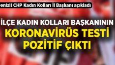 CHP İlçe Kadın Kolları Başkanı Aras'ın koronavirüs testi pozitif çıktı!