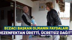 Eczacı Belediye Başkanı Çelik, dezenfektan üretip ücretsiz dağıttı