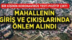 Çal'ın Denizler Mahallesi'nde 1 kişinin korona testi pozitif çıktı, gerekli tedbirler alındı