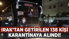 Irak'tan getirilen 138 kişi Afyonkarahisar'da karantinaya alındı!