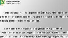 İzmir'de korona nedeniyle kamu çalışanlarına kıyafet serbestliği geldi