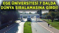 Ege Üniversitesi, yedi alanda dünya sıralamasına girdi!