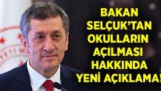 Bakan Ziya Selçuk'tan okulların açılması ile ilgili yeni açıklama!