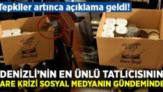 Denizli'nin ünlü tatlıcısı Hacı Şerif'te fare krizi sosyal medyanın gündeminde!