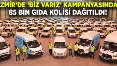 İzmir'de 'Biz Varız' kampanyasında 85 bin gıda kolisi dağıtıldı