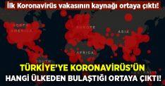 Koronavirüs'ün  ilk olarak Türkiye'ye hangi ülkelerden girdiği ortaya çıktı!