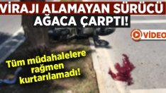 Motosikleti ile virajı alamayan ve ağaca çarpan Önder Demir hayatını kaybetti!