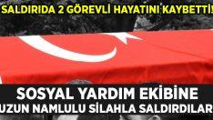Vefa Sosyal Destek ekibine silahlı saldırı: 2 şehit