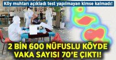 İzmir'de 2 bin 600 nüfuslu köyde vaka sayısı 70'e çıktı!