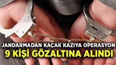 Kuşadası'nda jandarmadan kaçak kazıya operasyon 9 kişi gözaltına alındı
