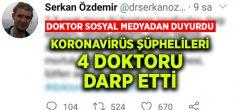 Korona virüs şüphesiyle hastaneye getirilen 2 kişi, 4 doktoru darp etti
