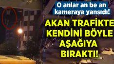 Denizli'de bir genç akan trafikte kendini üstgeçitten aşağı attı!