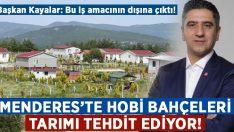 Menderes'te hobi bahçeleri tarımı tehdit ediyor!