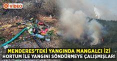 Menderes yangınında mangalcı izi: Hortumla söndürmeye çalışmışlar