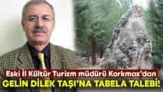 Eski İl Kültür Turizm Müdürü Mehmet Korkmaz'dan 'Gelin Dilek Taşı'na tabela talebi!