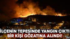 İzmir Dikili'de otluk alanda yangın çıktı.. Bir kişi gözaltına alındı!