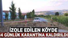 İzole edilen köydeki 14 günlük karantina kararı kaldırıldı!