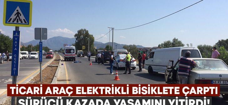 Ticari araç elektrikli bisiklete çarptı.. Kazada Kadir Arslan yaşamını yitirdi!