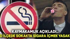 O ilçede Koronavirüs tedbirleri kapsamında sokakta sigara içmek yasaklandı!