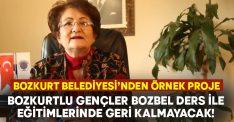 Bozkurt Belediyesi'nden bir örnek proje daha: Bozbel ders