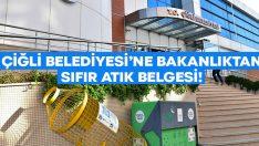 """Çiğli Belediyesi'ne Bakanlıktan """"Sıfır Atık Belgesi"""""""
