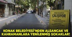 Konak Belediyesi'nden Alsancak ve Kahramanlara yenilenmiş sokaklar!