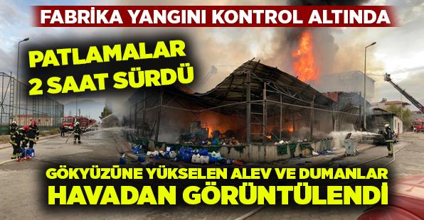 Denizli'de patlamalar 2 saat sürdü, yangın kontrol altına alındı