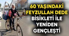 60 yaşındaki Feyzullah Dede bisikleti ile yeniden gençleşti