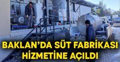Baklan'da süt fabrikası hizmetine açıldı