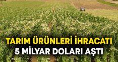 EİB'den yapılan tarım ürünleri ihracatı 5 milyar doları aştı