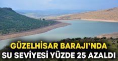 Güzelhisar Barajı'nda su seviyesi yüzde 25 azaldı