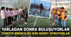 Tarladan sonra buluşuyorlar, Türkiye birinciliği için hokey oynuyorlar