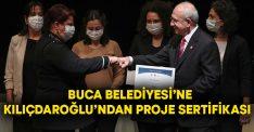 Buca Belediyesi'ne Kılıçdaroğlu'ndan proje sertifikası