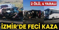 İzmir'de 3 aracın karıştığı kazada Mehmet Kahyaoğulları ve Nuray Çetinkurt'un hayatını kaybetti