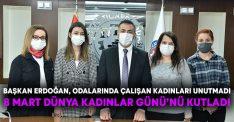 Başkan Erdoğan, odalarında çalışan kadınları unutmadı! 8 Mart Dünya Kadınlar Günü'nü kutladı
