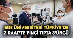Ege Üniversitesi Türkiye'de Ziraat'te 1'inci Tıpta 3'üncü