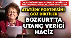 Bozkurt Belediyesi'nde utanç verici haciz.. Atatürk portresine göz diktiler