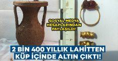 2 bin 400 yıllık lahitten altın çıktı.. Sosyal medya hesaplarından paylaşıldı!