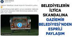Belediyelerin İltica skandalına Gaziemir Belediyesi'nden esprili paylaşım
