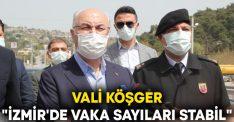 """Vali Köşger: """"İzmir'de vaka sayıları stabil"""""""