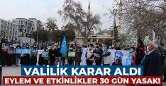 Denizli'de eylem ve etkinlikler 30 gün yasaklandı!