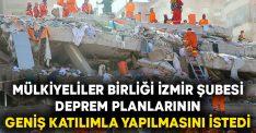 Mülkiyeliler Birliği İzmir Şubesi Deprem Planlarının Geniş Katılımla Yapılmasını İstedi